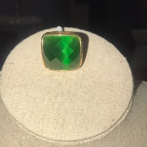 Square green stone gold ring... Nordstrom